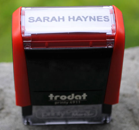 Self-inking clothing stamper